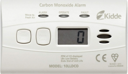 Test du détecteur de monoxyde de carbone Kidde 10LLDCO