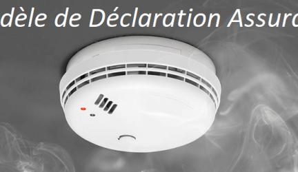 Détecteur de fumée – Modèle de déclaration Assurance
