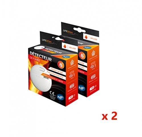 Lifedom - Détecteur de fumée NF & EN14604- Garantie 5 et livré avec pile et accessoires (2)